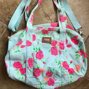 Victoria's Secret Pink floral duffel gym bag